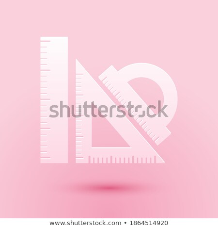 Cut Out Paper Numbers and Equipment Set Stock photo © Voysla