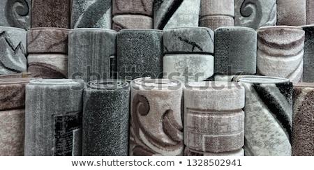 Köteg tekert felfelé ipar padló szőnyeg Stock fotó © Jasminko