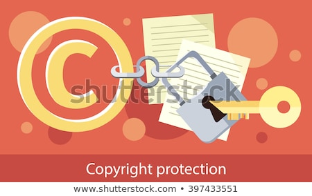 Copyright Protection Design Flat  Stock photo © robuart