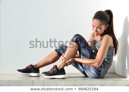 corredor · em · ferimento · asiático · corrida · mulher - foto stock © maridav
