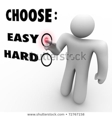 Zor seçim sembolik insanlar ayakta dışarı Stok fotoğraf © grechka333
