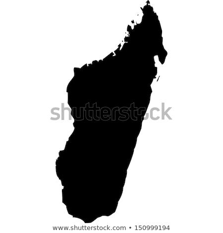 地図 · マダガスカル · 黒 · 行 · 世界中 · 抽象的な - ストックフォト © rbiedermann