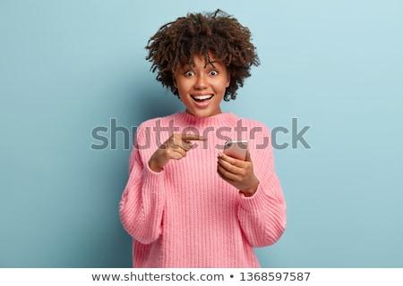 Piacevole cellulare conversazione bella donna parlando Foto d'archivio © lisafx