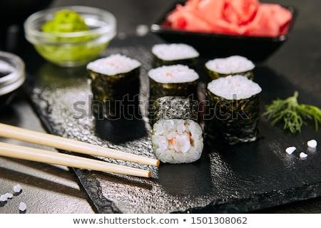 Sushi maki tavolo da cucina riso fresche piatto Foto d'archivio © andreasberheide