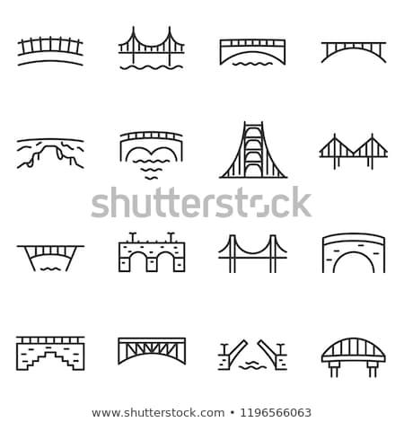 bridge line icon stock photo © rastudio