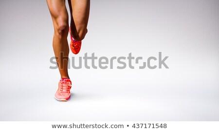 összetett kép közelkép sportoló lábak kék Stock fotó © wavebreak_media