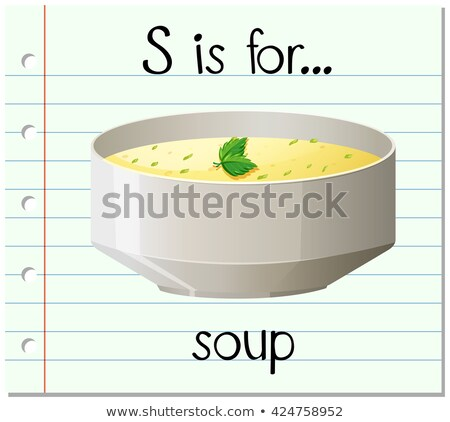 Flashcard letter S is for soup Stock photo © bluering