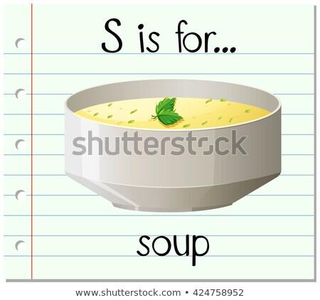 Lettera zuppa illustrazione alimentare design sfondo Foto d'archivio © bluering