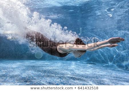 Stock photo: girl go diving