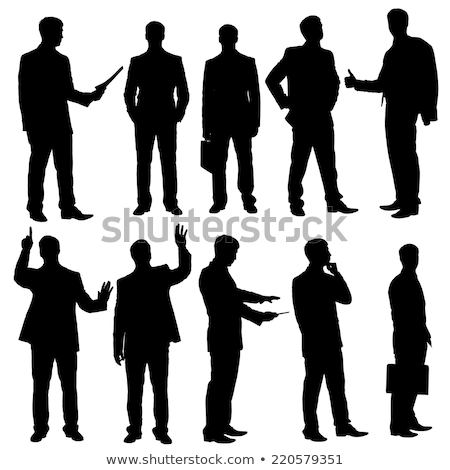 Homme d'affaires silhouette posent eps 10 Photo stock © Istanbul2009