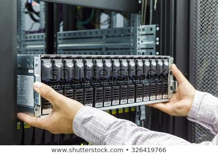 blade servers in rack stock photo © vtls