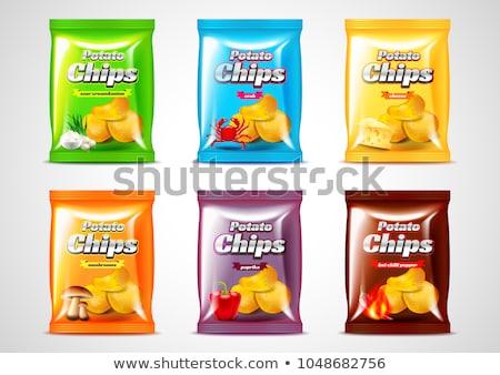 Kaas snacks zes kleur zakken illustratie Stockfoto © bluering