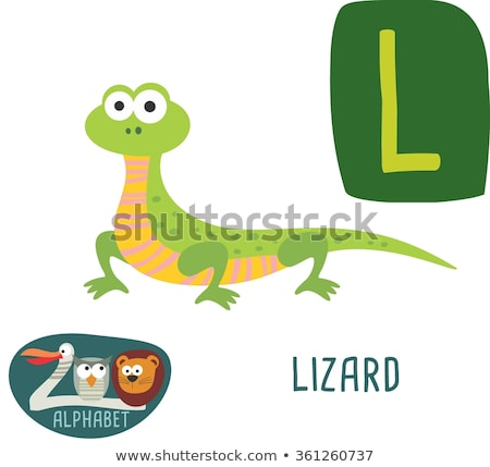 A letter L for lizard Stock photo © bluering