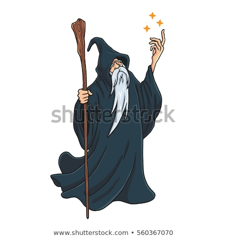 A simple drawing of a wizard Stock photo © bluering