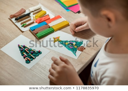 Christmas with Hand Made Toys and Presents Stock photo © dariazu