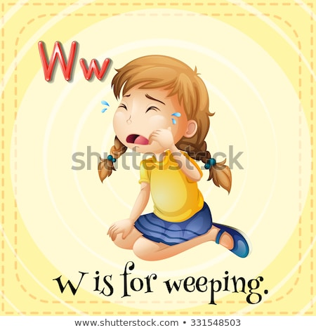 Flashcard letter W is for weep Stock photo © bluering