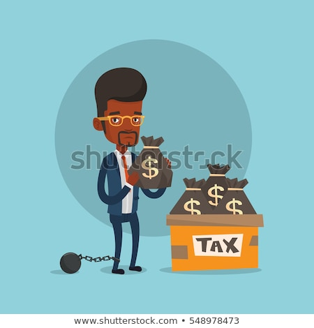 Box for taxes and chain with ball. Stock photo © RAStudio