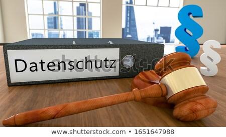 Paragraphe symbole bouclier 3D droit Photo stock © drizzd