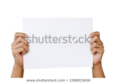 アップ 名刺 矢印 六角形 ストックフォト © VadimSoloviev