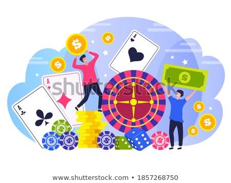 stilizált · hazárdjáték · rulettkerék · illustrator · eps8 · akta - stock fotó © day908