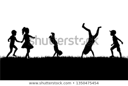 conceptual silhouette of a child Stock photo © zurijeta