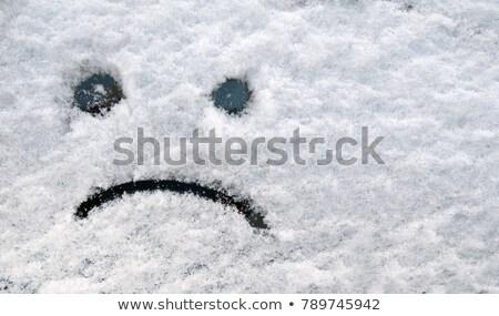 Feliz triste emoticon cara nieve Foto stock © stevanovicigor