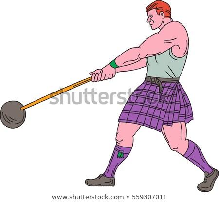 Peso jogos atleta desenho esboço estilo Foto stock © patrimonio