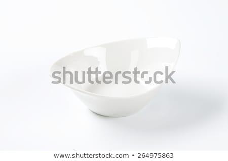 Diep ovaal porselein schotel lege witte Stockfoto © Digifoodstock