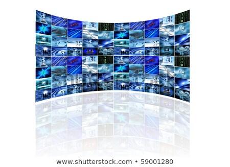 Meerdere schermen met zakelijke afbeeldingen Stockfoto © Kjpargeter