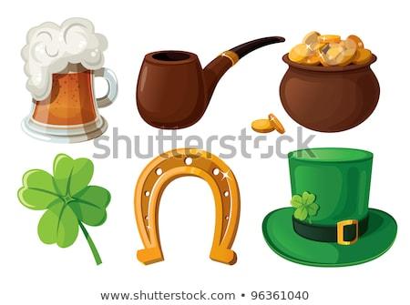 St Patrick Icons with Sparkles Stock photo © Voysla