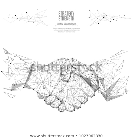 technology wireframe polygonal mesh abstract background Stock photo © SArts