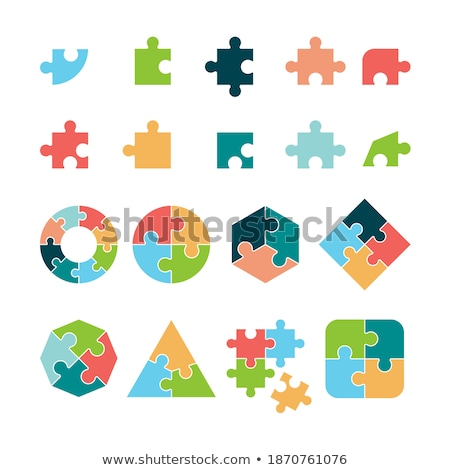 puzzle icons set   complete and incomplete stock photo © adrian_n
