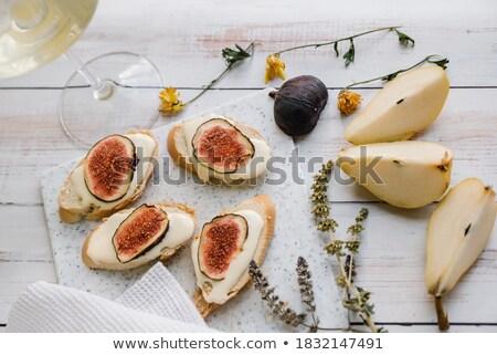 pörkölt · mogyoró · krém · gyümölcs · tányér · belső - stock fotó © monkey_business