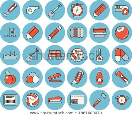 金属 笛 アイコン 漫画 スタイル 白 ストックフォト © ylivdesign