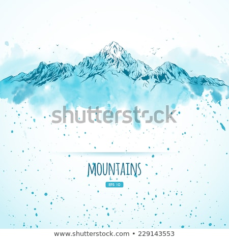 ink and watercolor sketch of mountains stock photo © cidepix