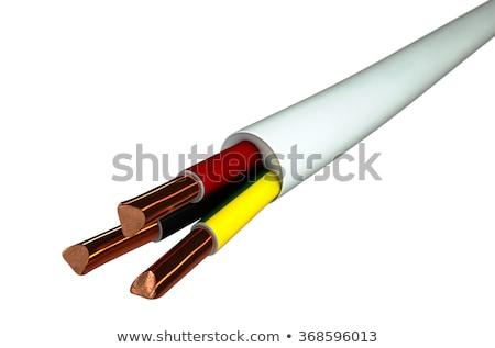 Copper Wire Strands Disconnected Stock photo © albund