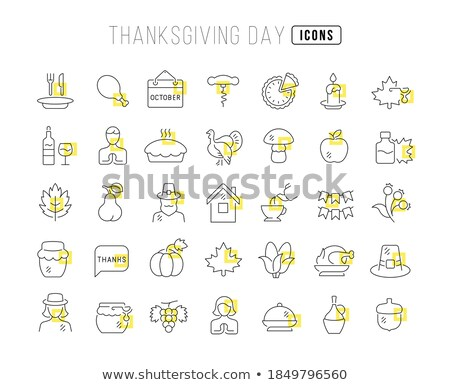 lijn · vakantie · dankzegging · dag · vector - stockfoto © voysla
