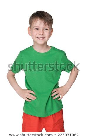 Little boy in green shirt Stock photo © bluering
