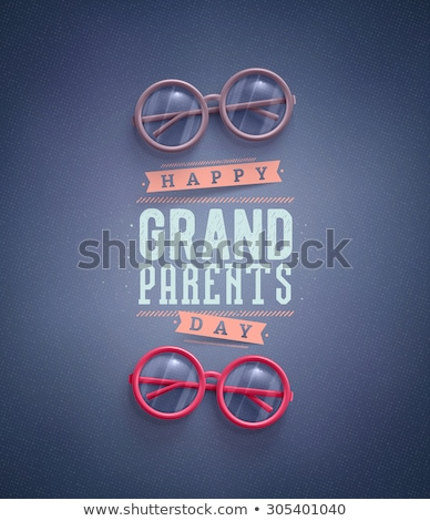 Grandparents Day. Day of grandmother and grandfather. grandma wi Stock photo © popaukropa
