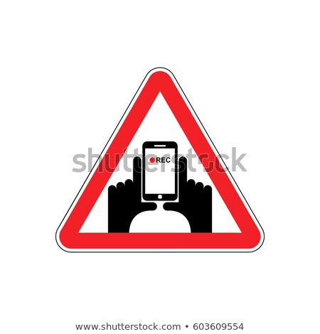 Attention Vertical video. Hand and smartphone to record. Road si Stock photo © popaukropa