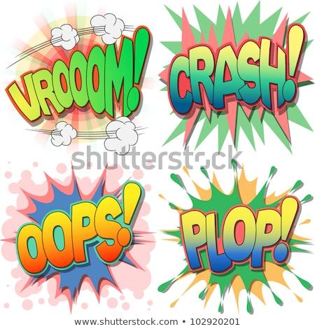 Vroom comic word Stock photo © studiostoks
