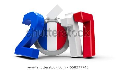 флаг · французский · флагшток · 3d · визуализации · изолированный · белый - Сток-фото © oakozhan