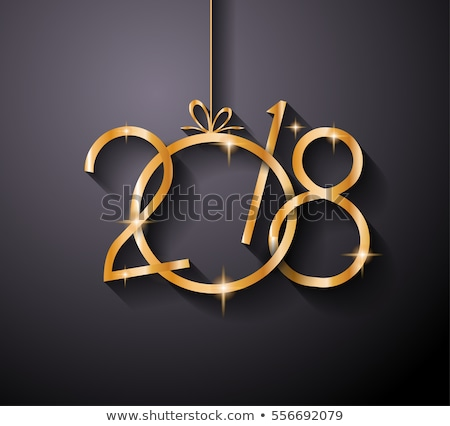 2018 Happy New Year Background for your Seasonal Flyers and Greetings Card or Christmas themed invit Stock photo © DavidArts