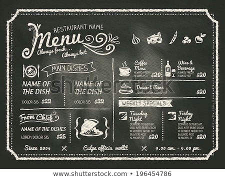 Retro Restaurant menu food and drinks  Stock photo © Dimpens