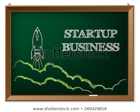 new career   chalkboard with hand drawn text stock photo © tashatuvango