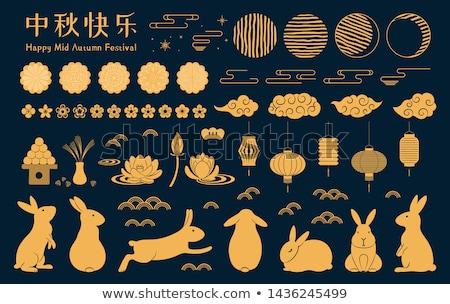 Çin · mühürlemek · aile · ahşap · dizayn · kırmızı - stok fotoğraf © trikona