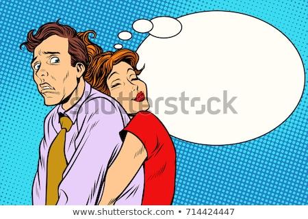 couple loving wife and confused husband stock photo © studiostoks