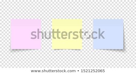 vektor · papír · jegyzet · post · it · levél · óriásplakát - stock fotó © oblachko