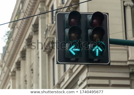 Green traffic signal light with sign Stock photo © njnightsky