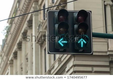 黄色 · 遅く · ダウン · 青空 · 道路標識 - ストックフォト © njnightsky